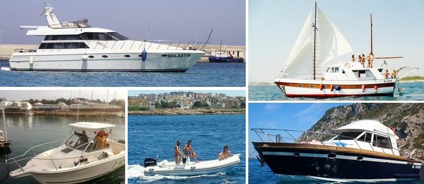 prezzi noleggio imbarcazioni a Gallipoli