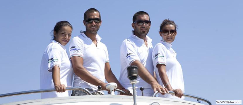 Gli Skipper Luca e Massimo De Prezzo, del Team Geppe Primo Charter