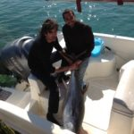Pesca a traina nel mare del Salento