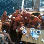 Pranzo in barca al largo di Gallipoli